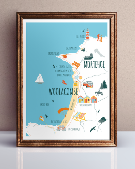 Final map for Woolacombe and Morethoe Voice | Design By Pie | Graphoc Design Services North Devon