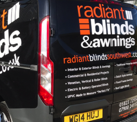 Graphic Design for Blinds & Awning Supplier
