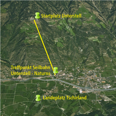 Paragliding Tandemflug in Naturns - Unterstell