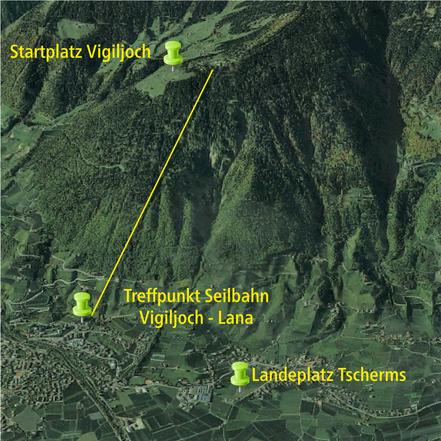 Paragliding Tandemflug in Lana - Vigiljoch