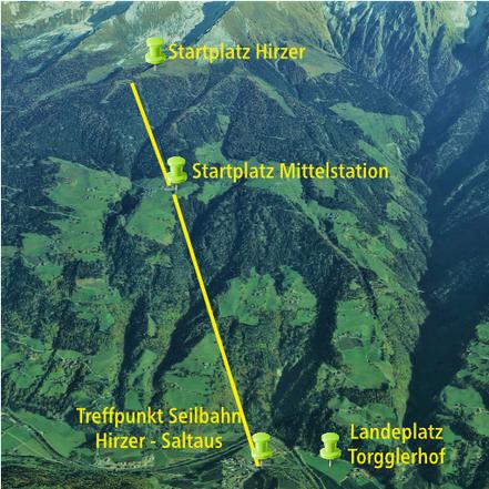 Paragliding Tandemflug in Saltaus am Hirzer