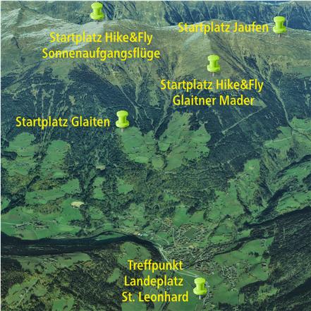 Paragliding Tandemflug in St. Leonhard - Jaufen