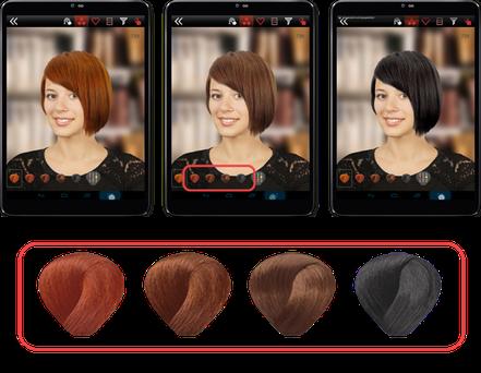 Frisuren- und Farbauswahl mit Hair Concept 3D