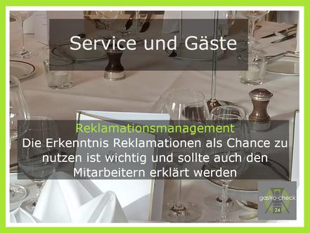 Reklamationsmanagement Gastronomie