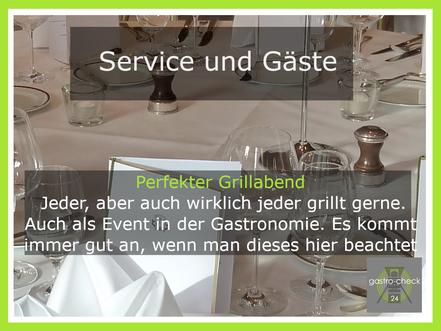 grillen in der Gastronomie