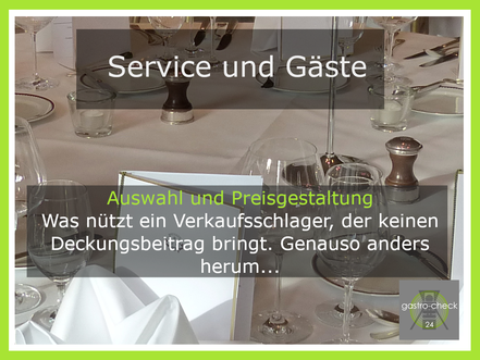 Preisgestaltung Gastronomie