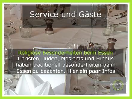 religiöse Besonderheiten beim Essen