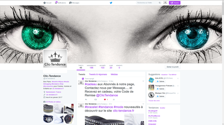 page twitter clic-tendance.fr