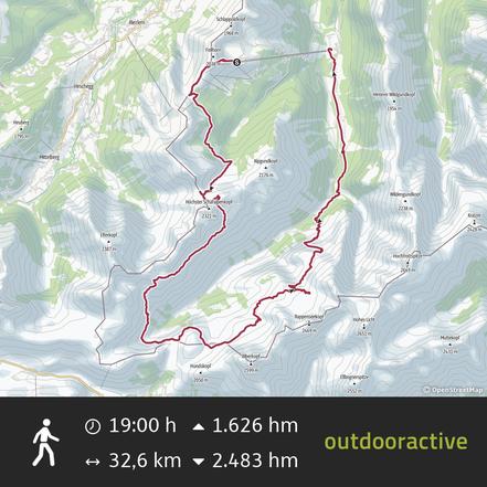 Hüttentour Oberstdorf 4 Etappen