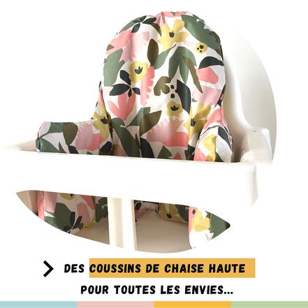 cette image représente un coussin de chaise haute pour chaise haute Ikea