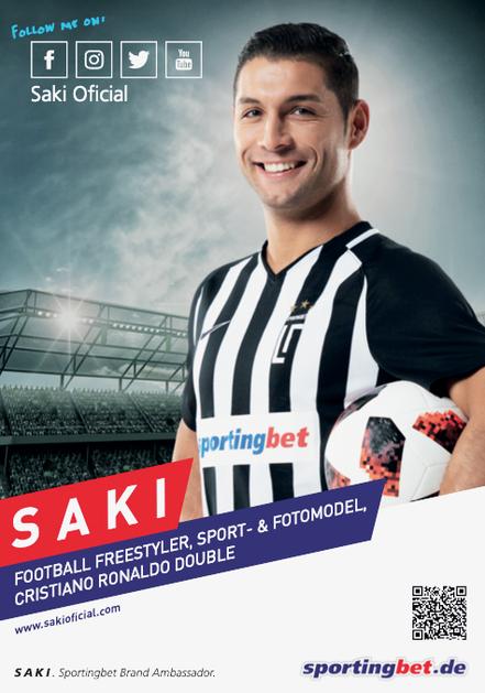 Fußball Freestyler Autogrammkarte - Saki