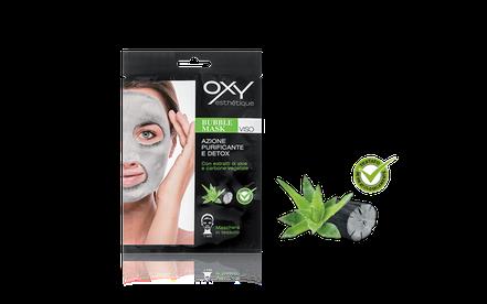 Maschera in tessuto purificante Oxy