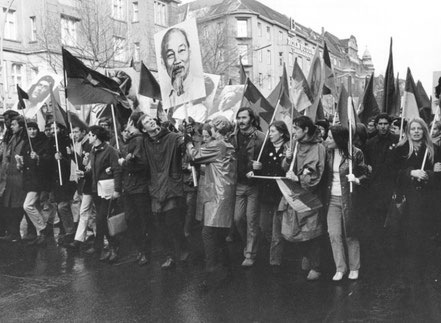 Vietnamsolidaritetsdemo i Berlin, februar 1968