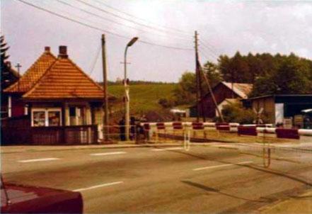 Der ehemalige Bahnübergang der Innerstetalbahn in Clausthal-Zellerfeld an der Telemannstraße