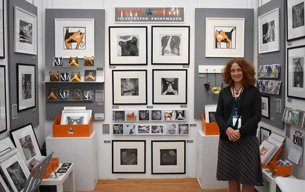 Lucy At The Hepworth Gallery Print Fair