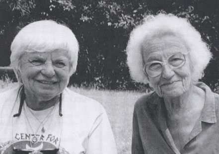 Dolores Krieger (links) und Dora van Gelder-Kunz (rechts)
