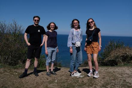 Urlaubwoche auf Gotland: Konrad, Sonja, Clara und Hannah (v.l.)