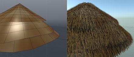 techo con el material fur