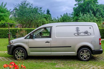 Werbung, Fahrzeugbeschriftung, VW Hochdach, GlasDesign,