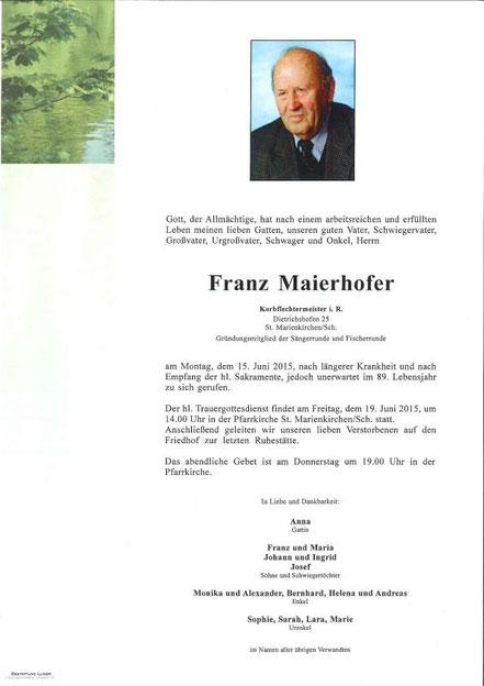 Parte Franz Maierhofer sen.