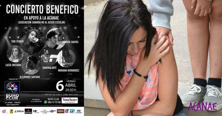 Concierto benefico a favor de la lucha contra el bullying en Tenerife, Canarias