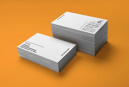 Letterpress Visitenkarten für Handelsvertreter auf Gmund Cotton, Max White