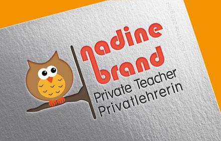 Logo für Privatlehrerin mit Eule