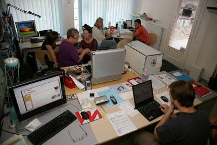 Drehvorbereitungen in unserem Budapester Büro...