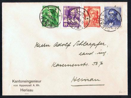 J 73 - 76   Mi.Nr.: 287 - 290