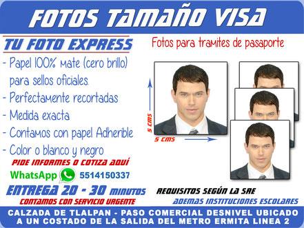 Tu Foto Express Fotos Infantil Cartilla Pasaporte Credencial