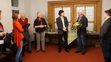 Eröffnung der Ausstellung durch den Bürgermeister Filippo Smaldino