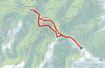Wanderung Eiskogel, Pernecker Kogel, Almtal