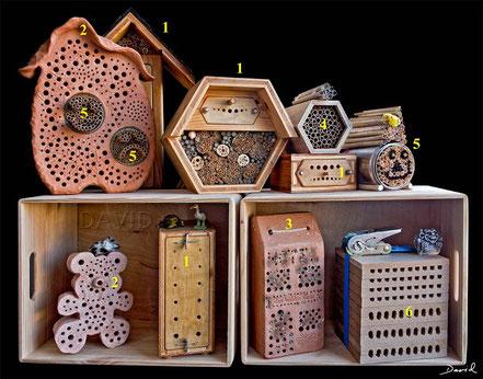 Insektenhotel Insektennisthilfen Naturgartenbalkon Beobachtungsnistkästen