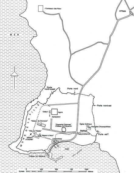 Paphos (Nea Paphos) : Plan du site archéologique - Chypre