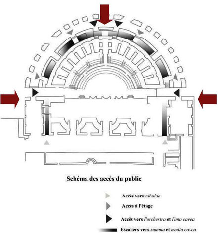 Bulla Regia : Plan du Théâtre (2nd état)