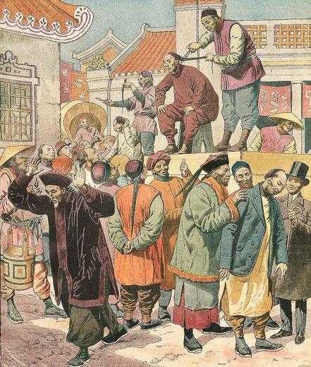 5 février 1911. Nattes. Le Petit Journal, Supplément illustré, et la Chine  1890-1913, 1921-1931.