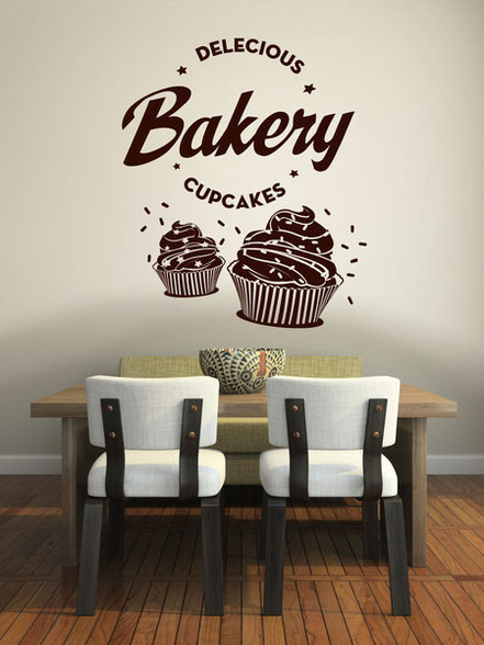 Bakery Cupcakes Wandtattoo
