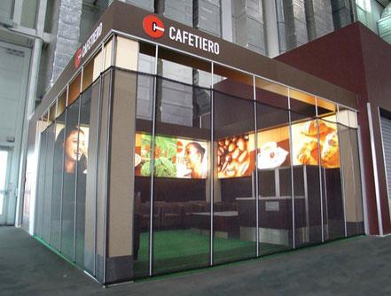 transparente textile Shoptrennwand - sicher verschlossen mit Trennshop die Shopabtrennung Trentex
