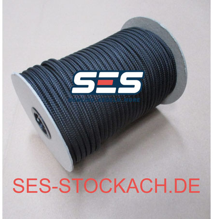 75-110012-009 Roll of string Kegelseil schwarz 6mm gewachst Rolle 50meter