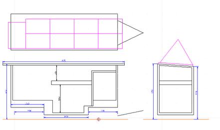 Mit Hilfe von QCAD habe ich die 2D Zeichnungen erstellt.