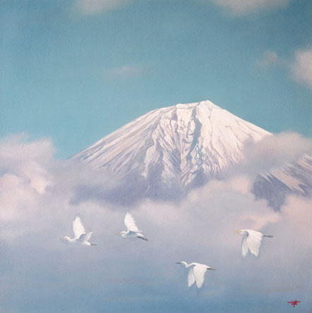「雲間に翔ぶ」 油彩・キャンバス S6 252,000円