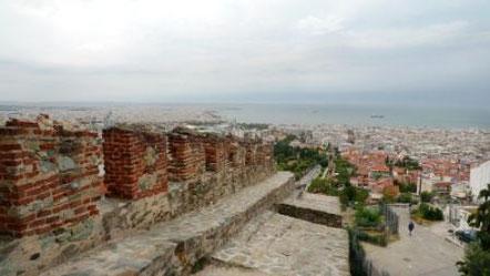 Ausblick vom Trigoniou Turm auf Thessaloniki