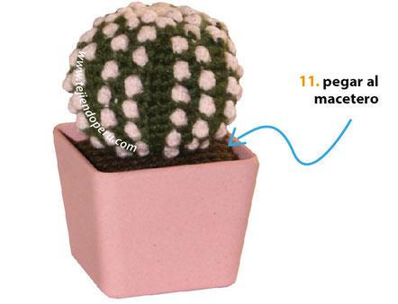 Resultado de imagen de cactus en crochet paso a paso | Cactus a crochet,  Cactus de ganchillo, Ganchillo amigurumi | 338x442