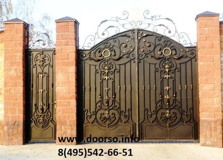 кованые ворота город Руза.