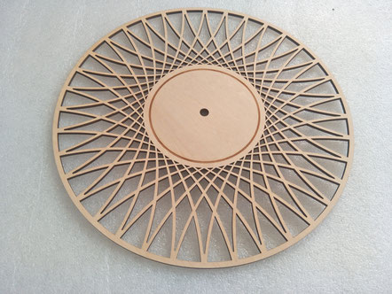 plywood disc laser cutting and engraving