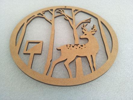 MDF decorative ring laser cutting