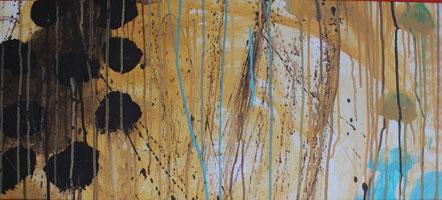 Nr. 2013-HO-005-b: Ca. 35 x 73 cm, Acryl auf Leinwad. Auf den Spuren von Cy Twombly