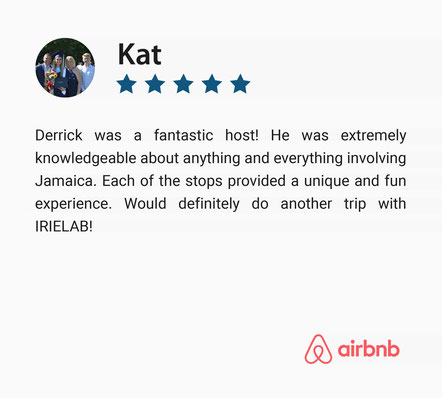 Five Star Positive Guest Review on Montego Bay Culture Tour, Jamaica