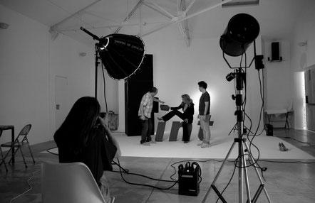 Teresa Viejo durante la sesión de fotos para el posado en Interviu