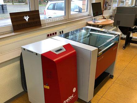 Neu in unserer Medienwerkstatt - Die Lasergravurmaschine Trotec Speedy 360